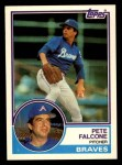 1983 Topps Traded #31 T Pete Falcone  Front Thumbnail