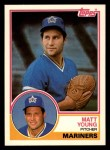 1983 Topps Traded #129 T Matt Young  Front Thumbnail