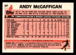 1983 Topps Traded #68 T Andy McGaffigan  Back Thumbnail