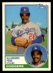 1983 Topps Traded #83 T Alejandro Pena  Front Thumbnail