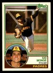 1983 Topps Traded #74 T Sid Monge  Front Thumbnail
