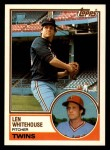 1983 Topps Traded #126 T Len Whitehouse  Front Thumbnail