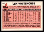 1983 Topps Traded #126 T Len Whitehouse  Back Thumbnail