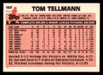 1983 Topps Traded #109 T Tom Tellmann  Back Thumbnail