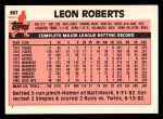 1983 Topps Traded #96 T Leon Roberts  Back Thumbnail