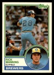 1983 Topps Traded #65 T Rick Manning  Front Thumbnail