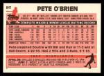 1983 Topps Traded #81 T Pete O'Brien  Back Thumbnail