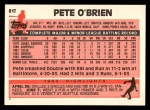 1983 Topps Traded #81 T Pete O'Brien  Back Thumbnail