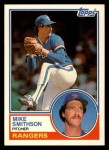 1983 Topps Traded #106 T Mike Smithson  Front Thumbnail