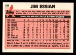 1983 Topps Traded #30 T Jim Essian  Back Thumbnail