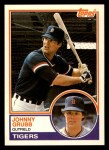 1983 Topps Traded #38 T Johnny Grubb  Front Thumbnail