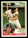 1983 Topps Traded #60 T Carney Lansford  Front Thumbnail