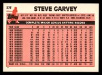 1983 Topps Traded #37 T Steve Garvey  Back Thumbnail