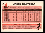 1983 Topps Traded #28 T Jamie Easterly  Back Thumbnail