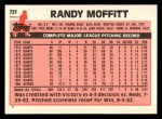 1983 Topps Traded #73 T Randy Moffitt  Back Thumbnail