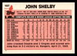 1983 Topps Traded #102 T John Shelby  Back Thumbnail