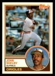 1983 Topps Traded #102 T John Shelby  Front Thumbnail