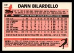 1983 Topps Traded #11 T Dann Bilardello  Back Thumbnail