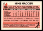1983 Topps Traded #64 T Mike Madden  Back Thumbnail
