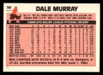 1983 Topps Traded #79 T Dale Murray  Back Thumbnail