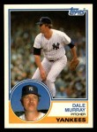 1983 Topps Traded #79 T Dale Murray  Front Thumbnail