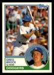 1983 Topps Traded #14 T Greg Brock  Front Thumbnail