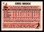 1983 Topps Traded #14 T Greg Brock  Back Thumbnail