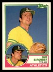 1983 Topps Traded #16 T Tom Burgmeier  Front Thumbnail