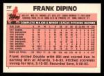 1983 Topps Traded #25 T Frank DiPino  Back Thumbnail