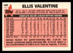 1983 Topps Traded #120 T Ellis Valentine  Back Thumbnail