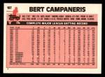 1983 Topps Traded #18 T Bert Campaneris  Back Thumbnail