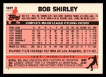 1983 Topps Traded #103 T Bob Shirley  Back Thumbnail