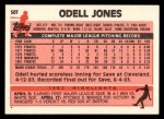 1983 Topps Traded #50 T Odell Jones  Back Thumbnail