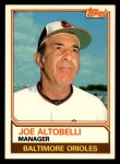 1983 Topps Traded #3 T Joe Altobelli  Front Thumbnail