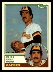 1983 Topps Traded #107 T Elias Sosa  Front Thumbnail