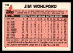 1983 Topps Traded #128 T Jim Wohlford  Back Thumbnail