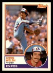 1983 Topps Traded #125 T Chris Welsh  Front Thumbnail