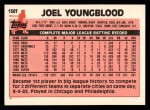 1983 Topps Traded #130 T Joel Youngblood  Back Thumbnail
