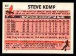 1983 Topps Traded #53 T Steve Kemp  Back Thumbnail