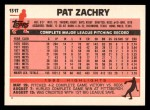 1983 Topps Traded #131 T Pat Zachry  Back Thumbnail