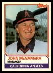 1983 Topps Traded #70 T John McNamara  Front Thumbnail