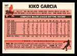 1983 Topps Traded #36 T Kiko Garcia  Back Thumbnail