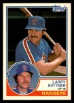 1983 Topps Traded #10 T Larry Bittner  Front Thumbnail