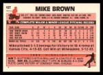 1983 Topps Traded #15 T Mike Brown  Back Thumbnail