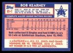 1984 Topps Traded #61  Bob Kearney  Back Thumbnail