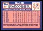 1984 Topps Traded #38  Tim Foli  Back Thumbnail