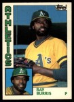 1984 Topps Traded #18  Ray Burris  Front Thumbnail