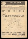 1959 Topps #137  Ed Brown  Back Thumbnail