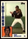 1984 Topps Traded #12  Tony Bernazard  Front Thumbnail