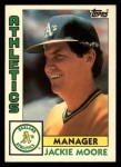 1984 Topps Traded #81  Jackie Moore  Front Thumbnail